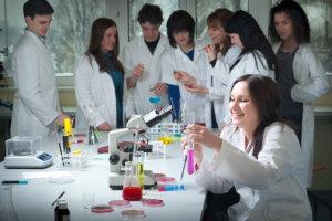 nursing inside the laboratory